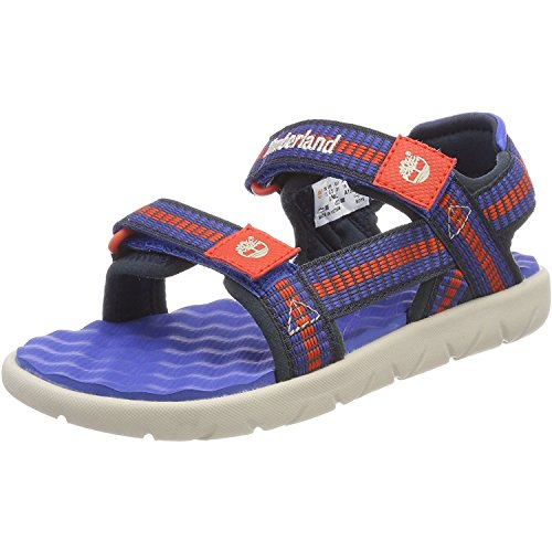 Timberland Unisex Kids Perkins Row Webbing Ankle Strap Sandals Nebulas Blue  11  29 EU