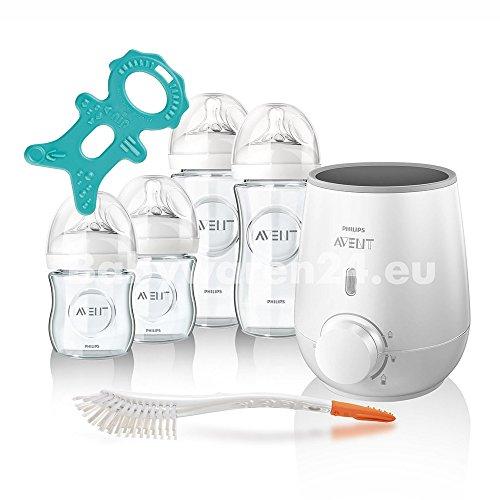 Philips Avent Naturnah Vorteilspack mit Natural GLAS Babyflaschen Starter-Set