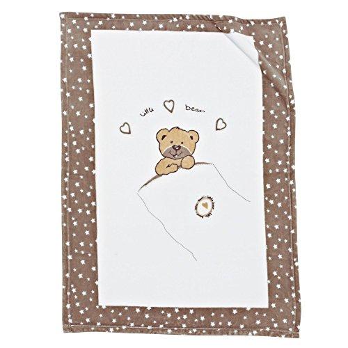 Alvi 931845626 Microfaser Decke 'Little Bear', beige