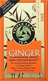 Triple Leaf Ginger Tea Bags - 20 ct