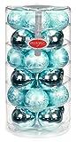 Inge-glas 16103D103MO Glaskugel, 60 mm, 24 Stück/Dose, Eislack mint, mint glanz
