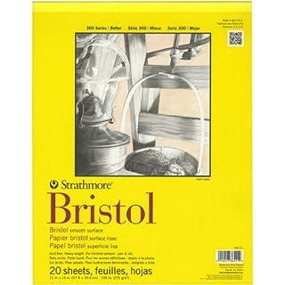 Pro-Art Wandbild Papier Strathmore Bristol glatten Papier Pad 27,9cm x 35,6cm, 20Blatt