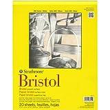 Pro-Art Papel Papel Liso de Bristol Strathmore Pad 11x 35,5cm, 20hojas