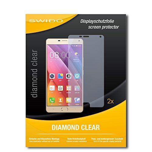 SWIDO 2 x Bildschirmschutzfolie Gionee Marathon M5 Plus Schutzfolie Folie DiamondClear unsichtbar