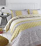 Catherine Lansfield - Biancheria da letto king size con Copripiumino Matrimoniale, soggetto: uccelli orientali