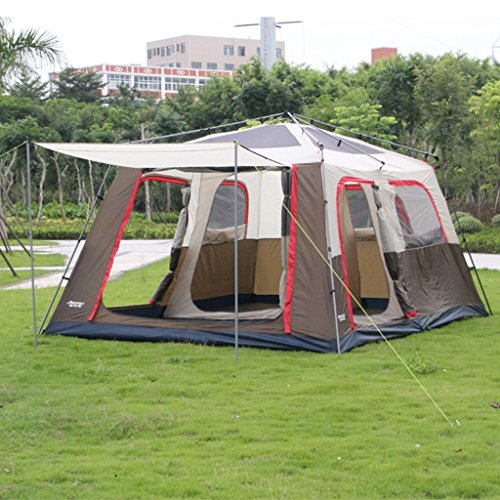 517YBT7XZTL. SS500  - Two Bedrooms And One Living Room Automatic Tent Outdoor Camping 6-8 People Second Bedroom Many People Large Tent