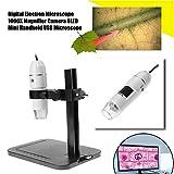 Digitales Elektronen-Mikroskop mit 1000 x Vergrößerung, USB, 8 LEDs, Zoom weiß