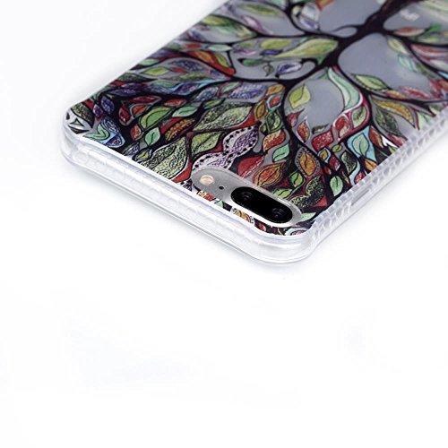 """MOONCASE iPhone 7 Plus Coque, Brushed Glitter Sparkle Bling Coloré Motif Étui Coque pour iPhone 7 Plus 5.5"""" Soft TPU Gel Souple Case Housse de Protection High Heels Tree"""