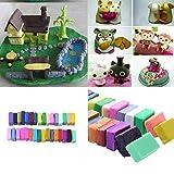 JWBOSS 32 Farbe + 5 Werkzeuge Polymer Ofen Bake Clay Block Formwerkzeug DIY Spielzeug