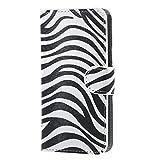 LG Leon 4G LTE Tasche - [Flip Wallet Case] [Zebra Muster]