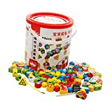perfeclan Juguete Educativo Cadena de Cuentas Desarrollo Niños Muebles Toque Festivo Juguetes Juegos