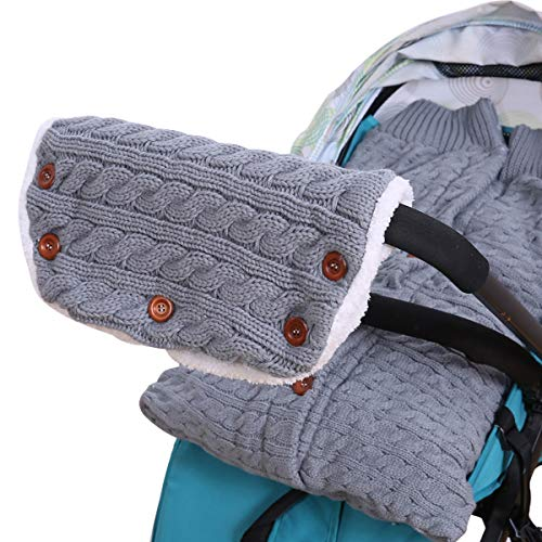 SH-RuiDu Direct Store Warme Handschuhe für Kinderwagen + Schlafsack für warme Hand (Color : Grey)