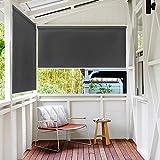 LeMeiZhiJia - Tenda avvolgibile per esterni o balconi, con rivestimento, Anthrazitfarbe, 140 * 240cm