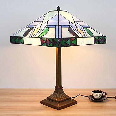 Lampe Tiffany - 16 pouces Pastoral Minimaliste Tiffany Lampe de