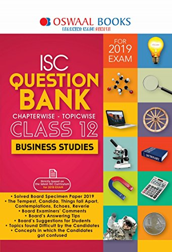 Oswaal ISC Question Bank Class 12 Business Stu. For Mar 2019 Exam (Chapterwise & Topicwise)