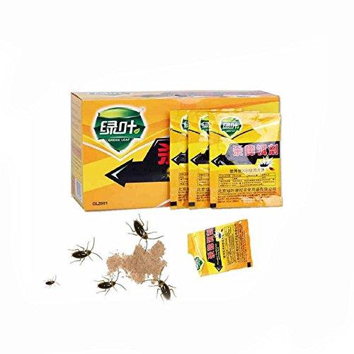 Kicode Medizinheim Kakerlake Pest töten Fehlerkontrolle unverletzt Ungiftig geruchlos Pulver Capture Killer 5 Stück