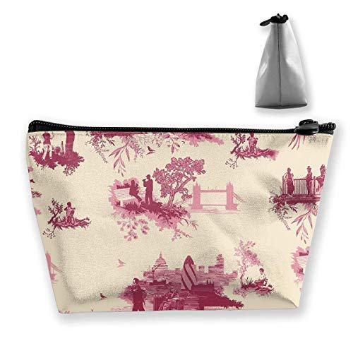 Kosmetiktasche Cosmetic London Building Bridge Tragbare Kosmetiktasche Mobile Trapez-Aufbewahrungstasche Reisetaschen mit Reißverschluss -