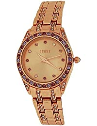 Spirit Ladies Elegant Crystal Bezel Rose Gold Tone Bracelet Strap Watch ASPL89