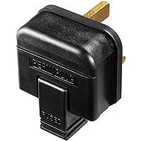 Masterplug HDPT13B-MP Heavy Duty 13A Rewireable Plug, Black - ukpricecomparsion.eu