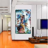 TOTAL HOME: Animated Girl SIZE (2FT * 4FT ) / Wall Art Picture Painting Home Decor Wall Pictures For Living Room No Framed /Large Handpainted Lovers Rain Stree Tree Lamp Landscape Painting On Canvas Wall Art Picture For Home Decoration Wall Decor/ Wall Pa