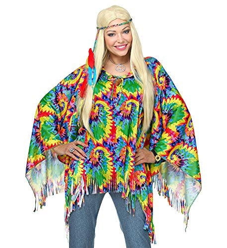 WIDMANN 75727 Erwachsenenkostüm psychedelic Hippie Mädchen Mehrfarbig