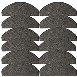 JEMIDI Stufenmatten Treppenmatten 64cm x 24cm mit geketteltem Rand und starker Befestigung (Grau, 12)