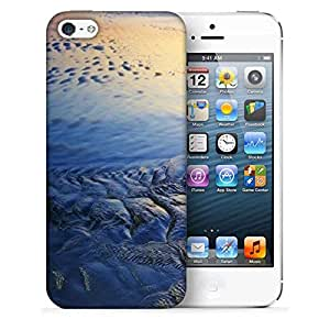 Snoogg beach texture Designer Protective Back Case Cover For Apple Iphone SE
