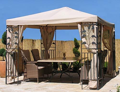 Quick-Star 4 Seitenteile mit Moskitonetz für Blätter Pavillon 3x3m Seitenwand Sand