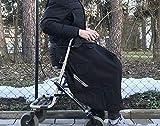 Rollstuhl Schlupfsack Regencape Decke Wasserabweisend mit Reflektor Regenschutz (ohne Fleece)