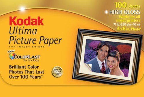 Kodak 8920647 ultima picture paper, high gloss (4 x 6, 100 fogli) by kodak