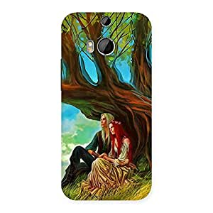 Couple Under Tree Multicolor Back Case Cover for HTC One M8