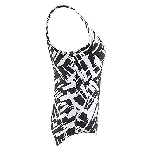 GTKC Frauen Badeanzug Digital Druck Stück Bikini Hoher Taille Größe Figurformend Bademode Monokini Swimwear Sommer Strand Schwarz