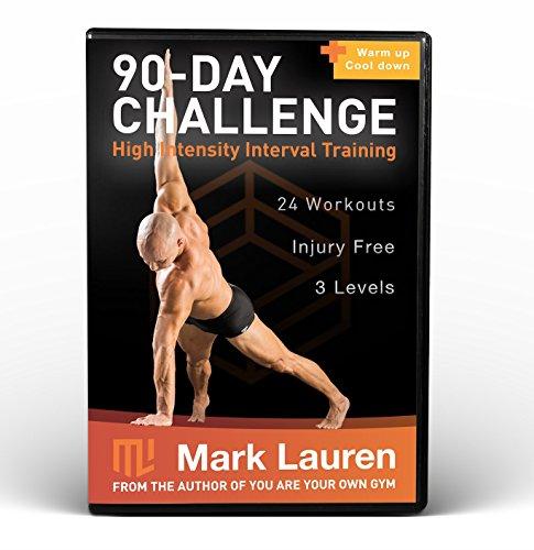 MARK LAUREN 90-Day Bodyweight Challenge | 8 DVD Total Fitness Functional Exercise Program(English) [DVD]