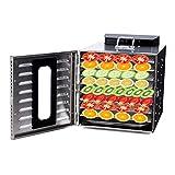 Lunuolao Déshydrateur d'aliments Professionnel à 12 Couches, Polyvalent, Faible consommation d'énergie, Haute efficacité, contrôle par écran Tactile, Faible Bruit, Base antidérapante