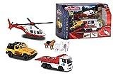 Majorette 212058593 Mountain Rescue Playset Spielset, Diorama, Die-Cast Fahrzeuge, 3 Spielautos + Zubehör, Geschenkset, Bergrettung, Mehrfarbig -
