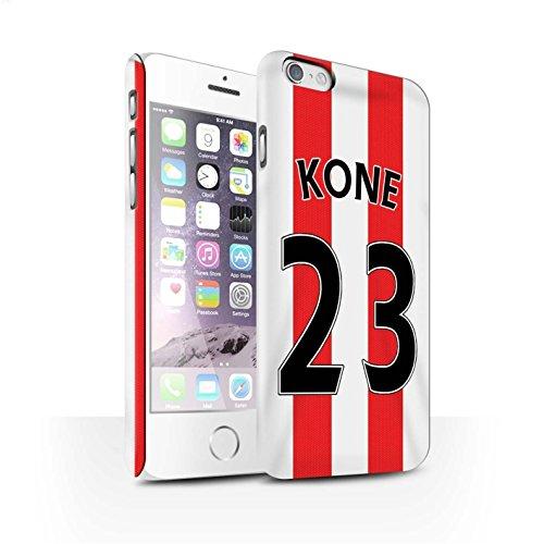 Offiziell Sunderland AFC Hülle / Matte Snap-On Case für Apple iPhone 6S / Pack 24pcs Muster / SAFC Trikot Home 15/16 Kollektion Kone
