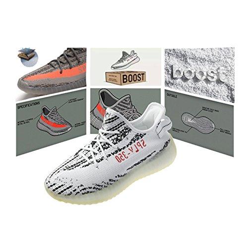 Boost 350 V2 Unisex Uomo Donna Scarpe da Ginnastica Running Sneakers Leggero Traspirante Zebra