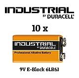 10x Duracell MN1604 Industrial Alkaline 9V Batterien in Folienbeutel der Firma Vitamed