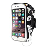 EOTW Fascia da Braccio Armband Portacellulare Custodia Sportiva per Smartphone Samsung iPhone Asus LG con Velcro Strap Regolabile da Corsa Maratona Palestra Correre (5,5 inch Nero) immagine