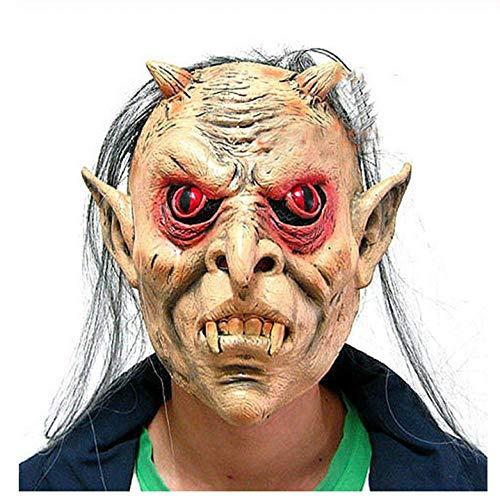 Erwachsene Rot Queen Perücke - YAX Masken Tricky Latex Vollgesichts Rote