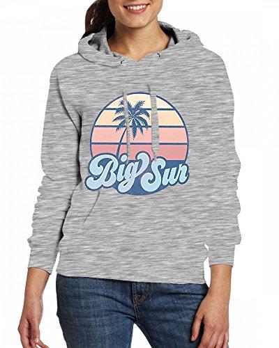 Custom Womens Hooded - Design Big Sun Hoodies Grey