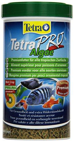 Tetra Pro Algae Premiumfutter (für alle tropischen Zierfische, mit Algenkonzentrat zur Verbesserung der Widerstandskraft, Vitaminstabilität und hoher Nährwert, Spirulina-Alge), 500 ml Dose -