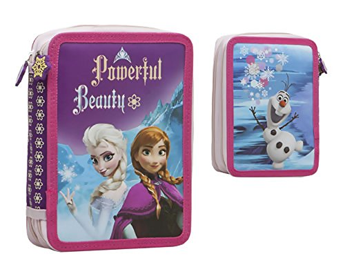 Frozen–Estuche escolar doble con accesorios Frozen