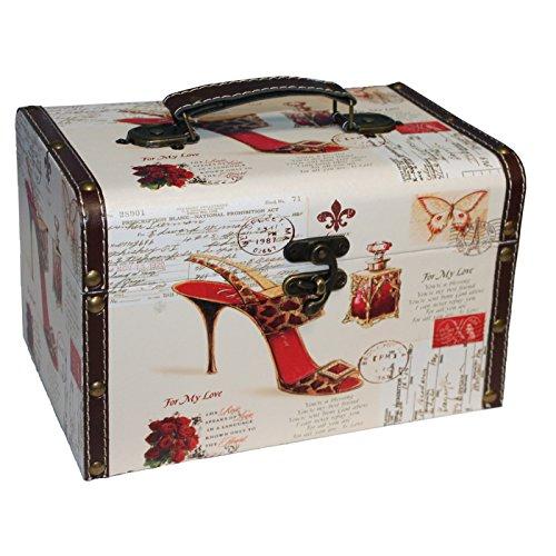 Caja baúl de madera modelo Vintage-17 x 27 x 17.5 cm