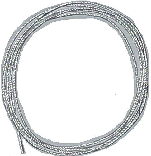 Ø 3mm / Länge: 2 Meter Silikatschnur/Silikatdocht (Grundpreis: EUR 2,45/m) sehr hochwertige und langlebige Faser aufgrund hoher Hitzebeständigkeit weit über 1300°C/Silica rope wick