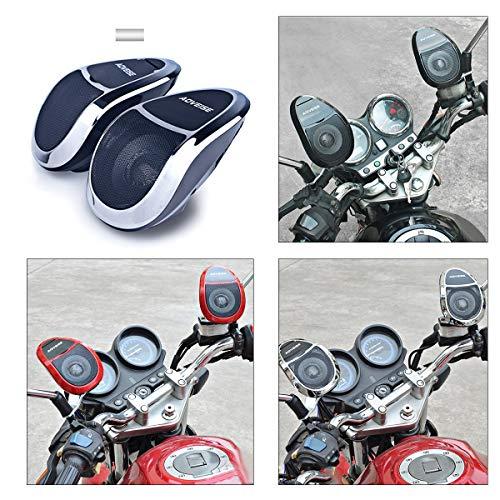 PeiXuan2019 12 V Motorrad Bluetooth MP5 FM Audio Radio Sound System Stereo SUPER BASS Lautsprecher Mit Eingebautem Verstärker Wasserdicht (Color : Black+Red)