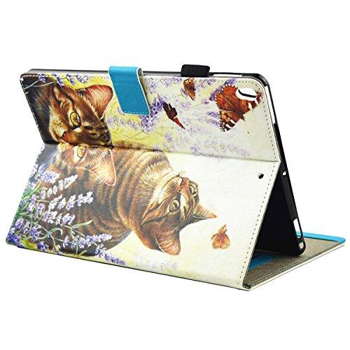 iPad IPad pro 10.5 Custodia per IPAD iPad pro 10.5 inch, inShang Smart Cover case in pelle PU, supporto per tenere L'iPad sollevato, magnetico per sleep e standby cat and butterfly