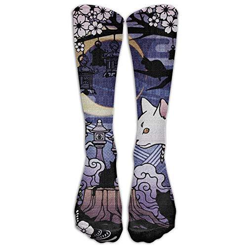 AHENANY Japanese Ukiyoe Cat Compression Socks Soccer Socks High Socks Long Socks For Running,Travel,Pregnancy,Shin Splints,Nursing.