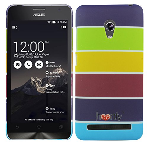 Heartly Strip Style Retro Color Armor Hybrid Hard Bumper Back Case Cover For Asus Zenfone 5 Lite A502CG - Yellow Field  available at amazon for Rs.249