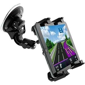 """Avizar - Support Voiture Auto Universel Spécial Tablettes 7"""" à 11"""" Ajustable Fixation Ventouse - Noir"""